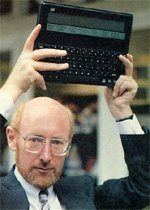 Sir Clive Sinclair and his Cambridge Z88